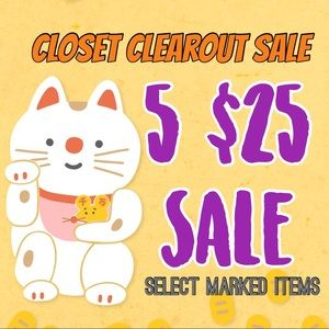 Closet Clearout Sale | Select items 5/$25